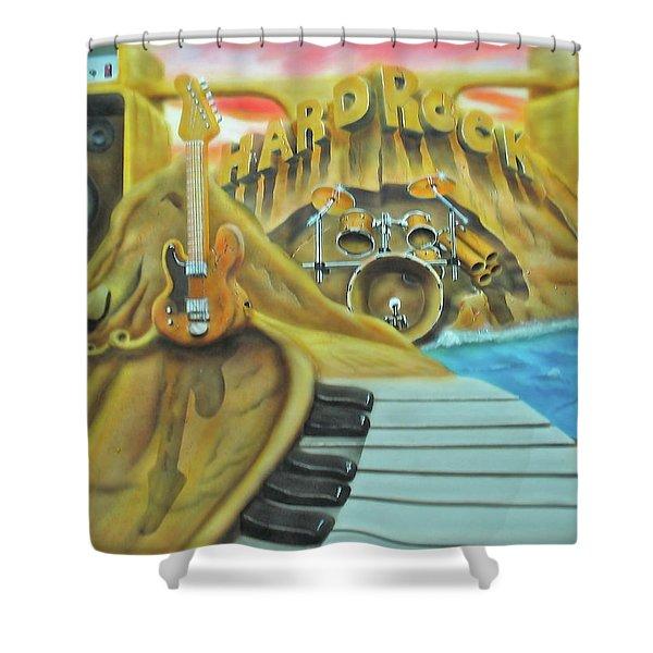 Hard Rock Shower Curtain
