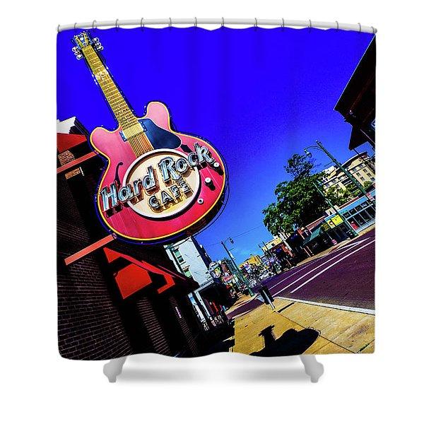 Hard Rockin On Beale Shower Curtain