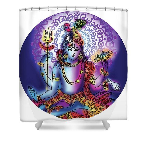 Hari Hara Krishna Vishnu Shower Curtain