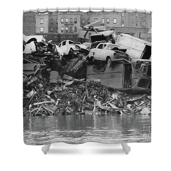 Harlem River Junkyard, 1967 Shower Curtain
