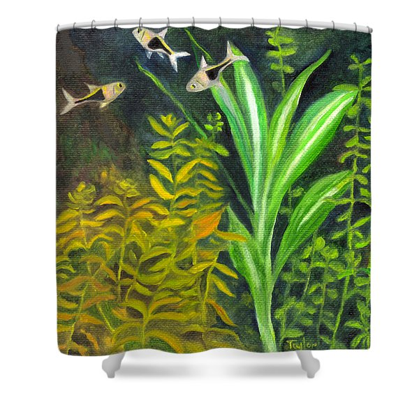 Harlequin Rasboras Shower Curtain
