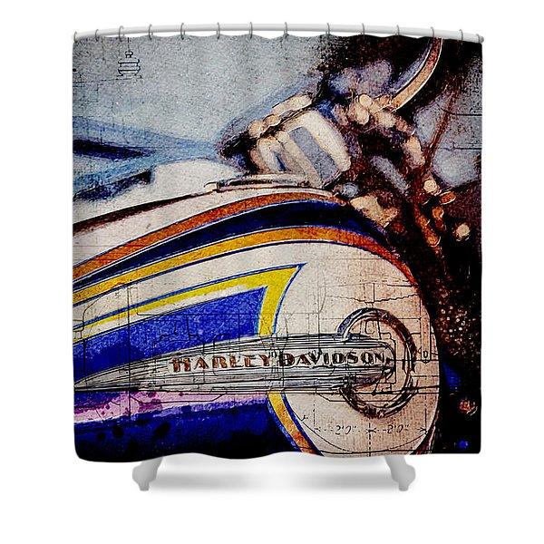 Harley Davidson Flstnse Cvo Softail Deluxe Shower Curtain