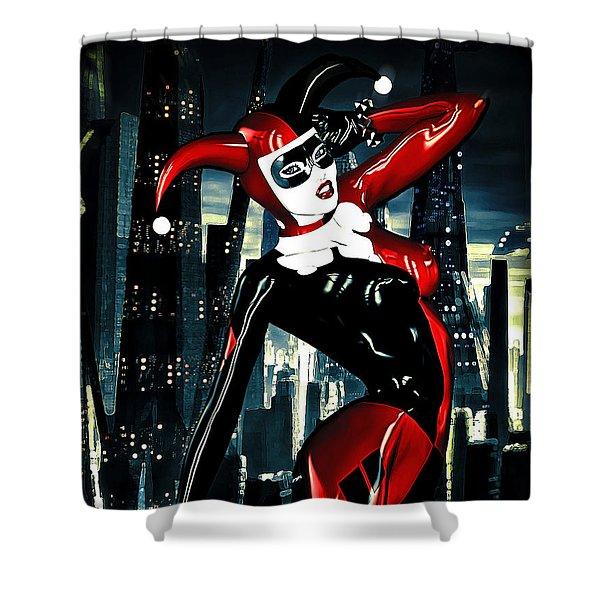 Harley Quinn Shower Curtain