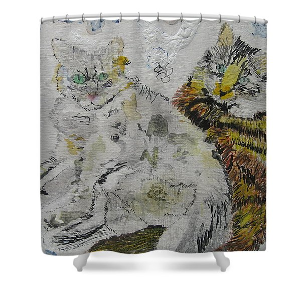 Harley Quinn And Hank The Tank Shower Curtain