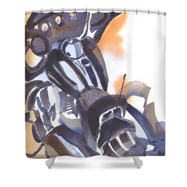 Motorcycle Iv Shower Curtain