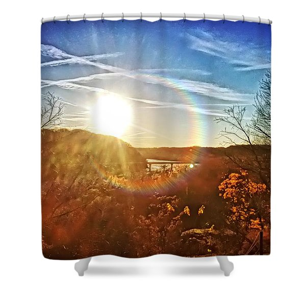 Harpers Ferry Sunset Shower Curtain