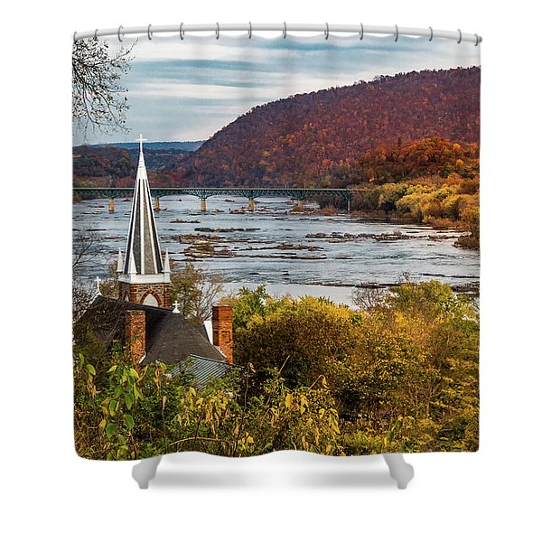 Harpers Ferry, West Virginia Shower Curtain