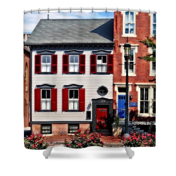 Harrisburg Pa - Roses On State Street Shower Curtain