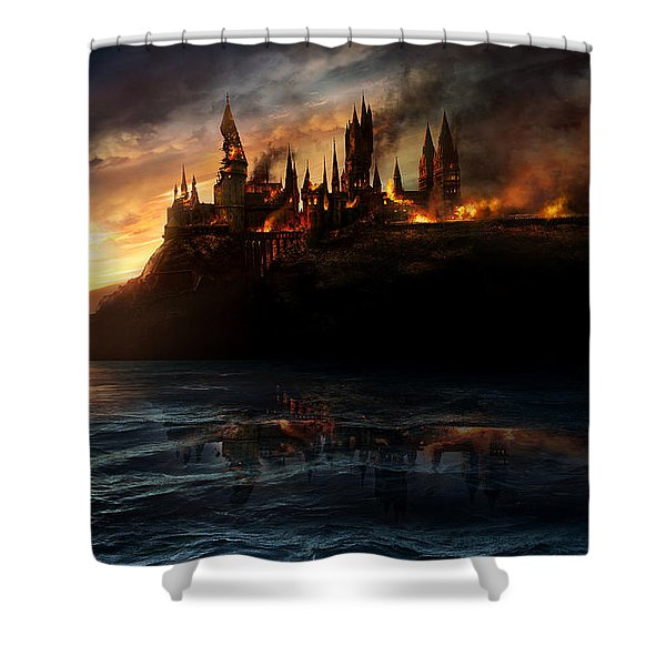 Harry Potter And The Deathly Hallows Part I 2010  Shower Curtain
