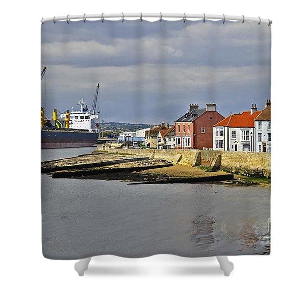 Hartlepool Harbour Evening Shower Curtain