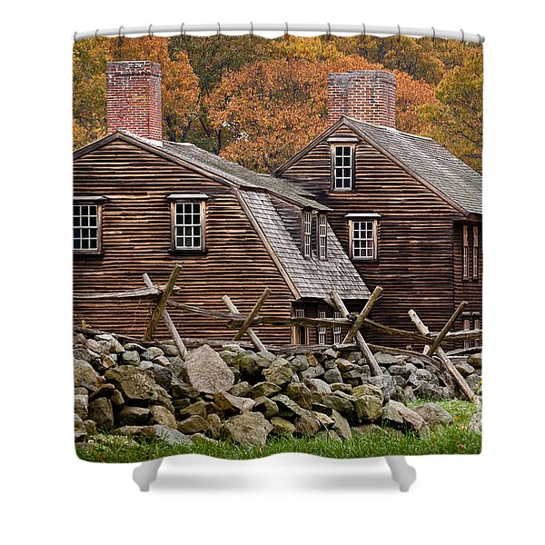 Hartwell Tarvern In Autumn Shower Curtain