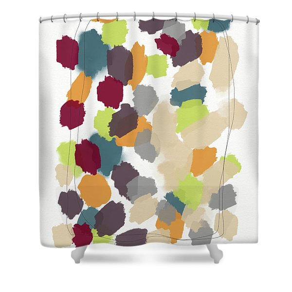 Harvest Day- Abstract Art By Linda Woods Shower Curtain