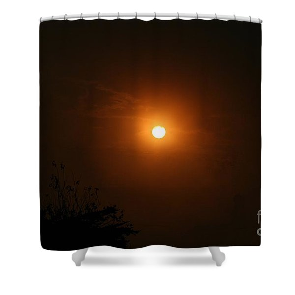 Shower Curtain featuring the photograph Harvest Moon by Cynthia Marcopulos