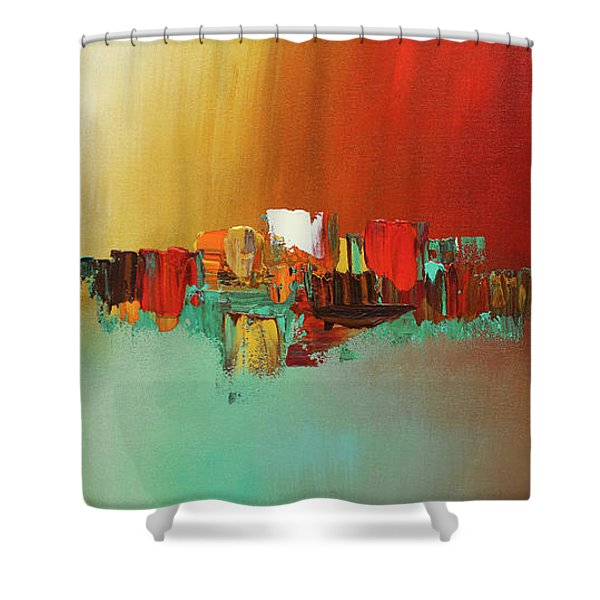 Hashtag Happy - Abstract Art Shower Curtain