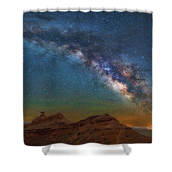 Hat Rock Milky Way Shower Curtain