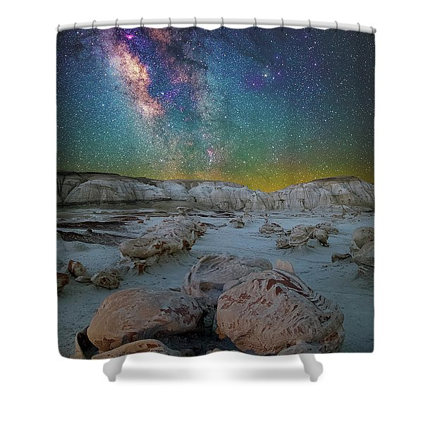 Hatched By The Stars Shower Curtain