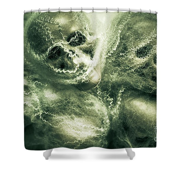 Haunted Undead Skeleton Heads Shower Curtain