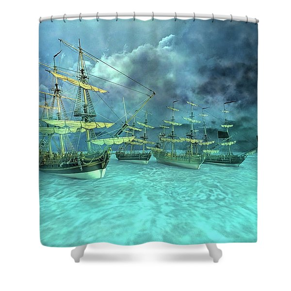 Haunting Serenity Point Shower Curtain
