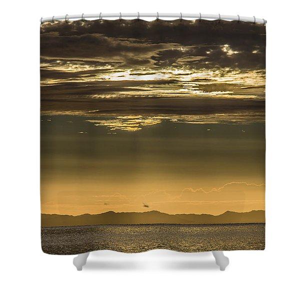 Hauraki Gulf At Sunrise Shower Curtain