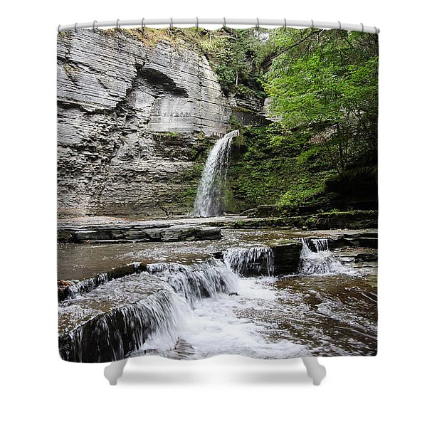 Eagle Cliff Falls II Shower Curtain