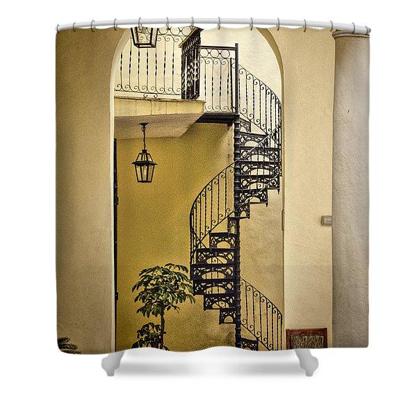 Havana Staircase Shower Curtain