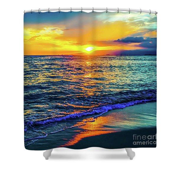 Hawaii Beach Sunset 149 Shower Curtain