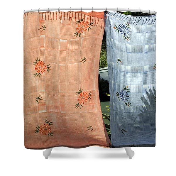 Hawaii Drying  Shower Curtain
