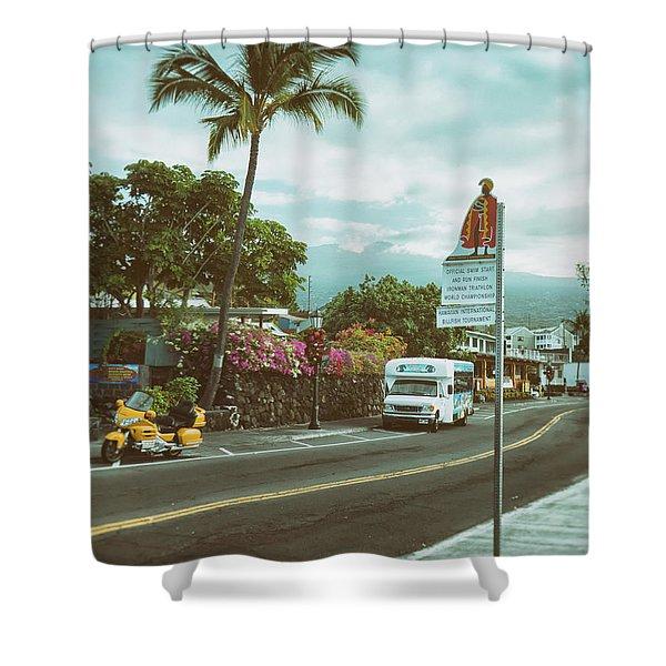 Hawaii Ironman Start Point  Shower Curtain