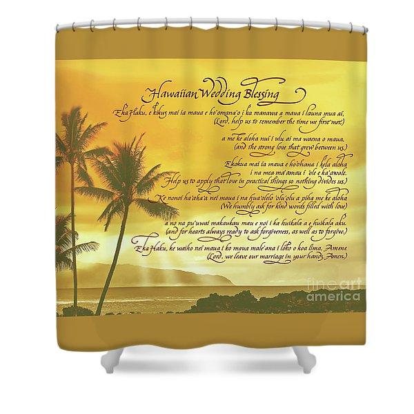 Hawaiian Wedding Blessing-sunset Shower Curtain