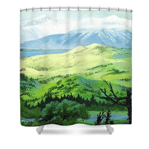 Hawk Meadows Shower Curtain