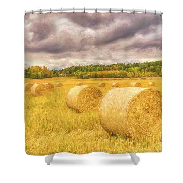 Hay Bales Shower Curtain