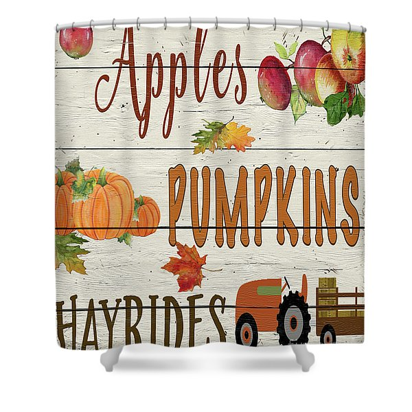 Hayrides-b Shower Curtain