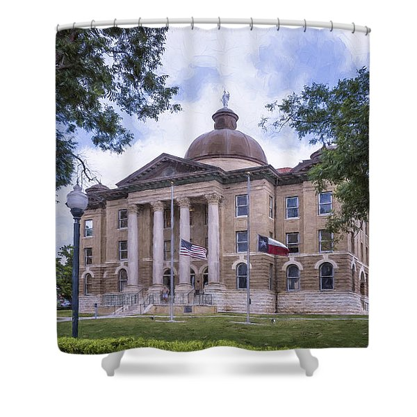 Hays County Courthouse Shower Curtain