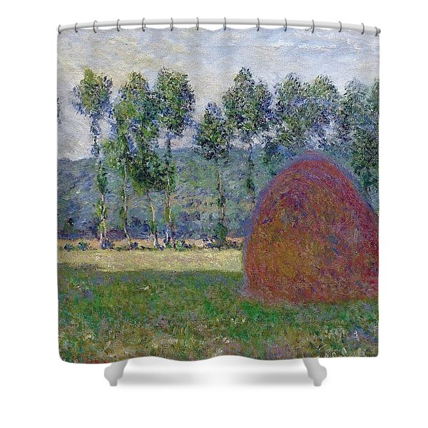 Haystack At Giverny, 1885 Shower Curtain