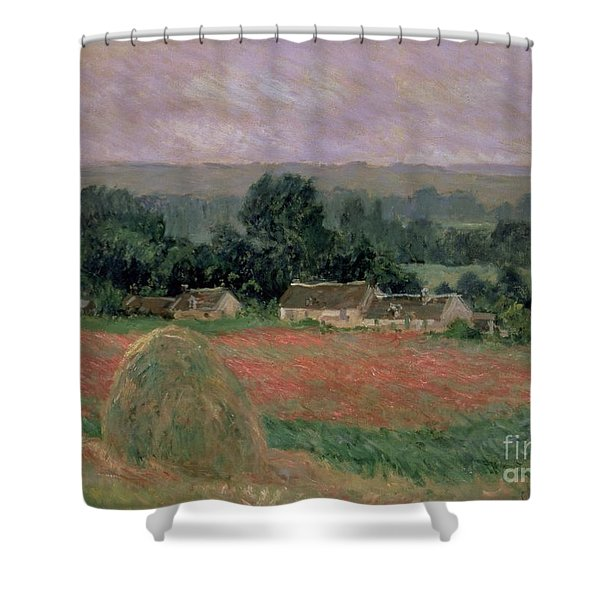 Haystack At Giverny Shower Curtain