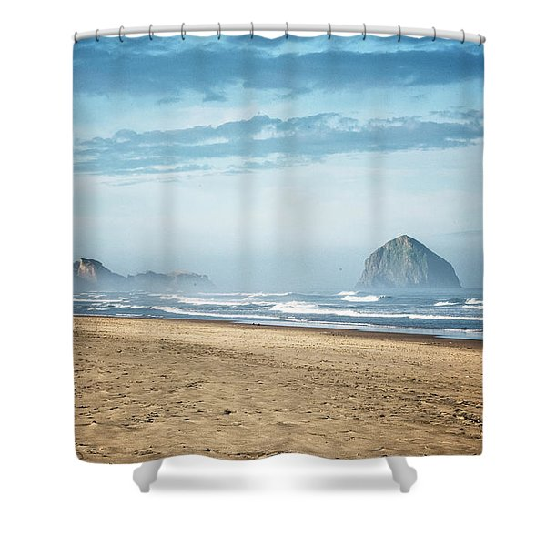 Haystack Rock Pacific City Shower Curtain