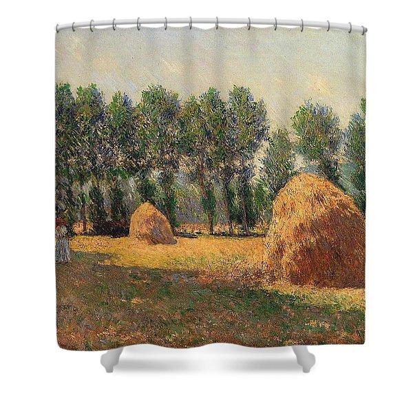 Haystacks At Giverny 1 Shower Curtain