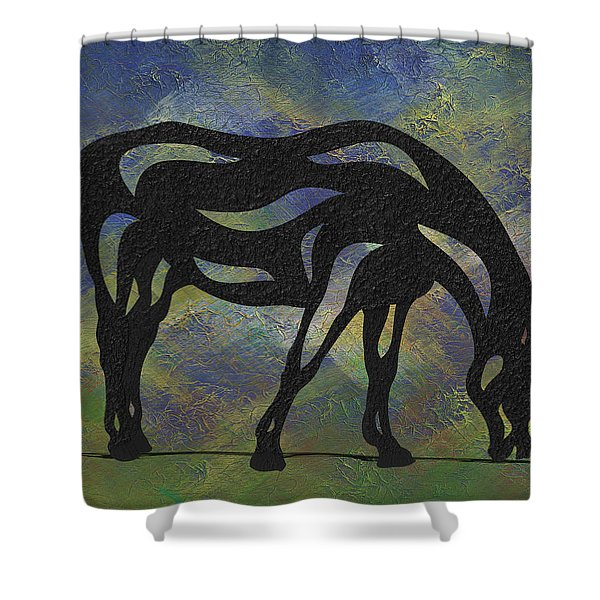 Hazel - Abstract Horse Shower Curtain