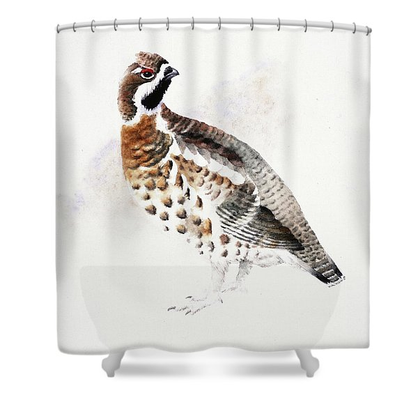 Hazel Grouse Shower Curtain
