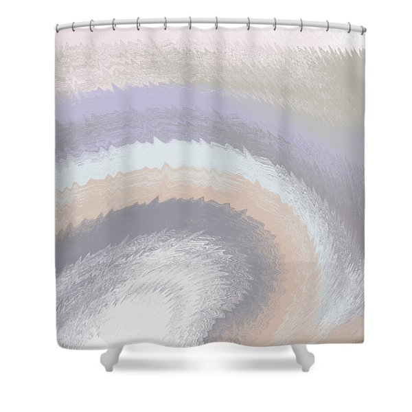 Hazy Morning- Abstract Art By Linda Woods Shower Curtain