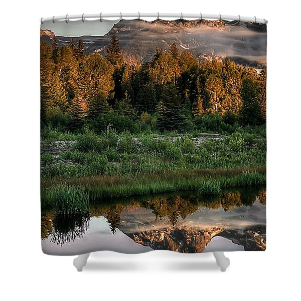 Hazy Reflections Triptych Panel 1/3 Shower Curtain