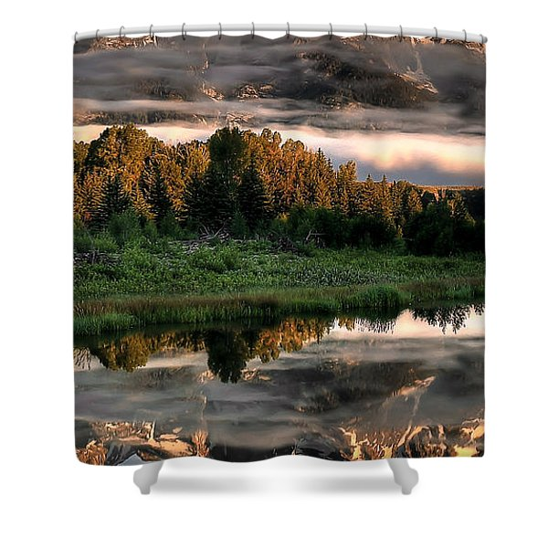 Hazy Reflections Triptych Panel 2/3 Shower Curtain