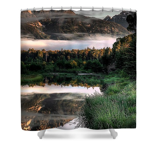 Hazy Reflections Triptych Panel 3/3 Shower Curtain