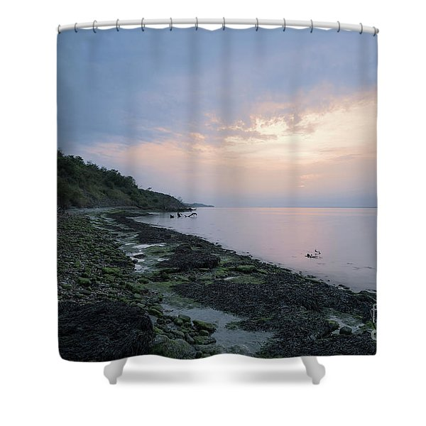 Hazy Sunset Shower Curtain