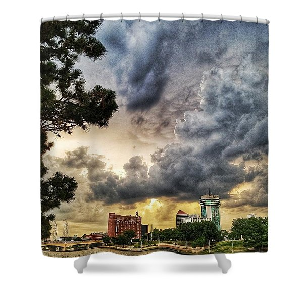 Hdr Ict Thunder Shower Curtain