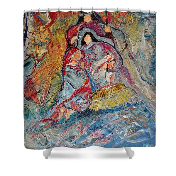 Shower Curtain featuring the painting He Dwelt Among Us by Deborah Nell