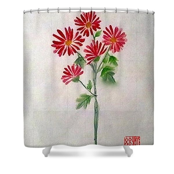 He Loves Me He Loves Me Not Shower Curtain