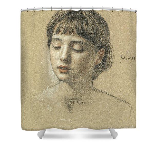 Head Of A Girl, 1883 Shower Curtain