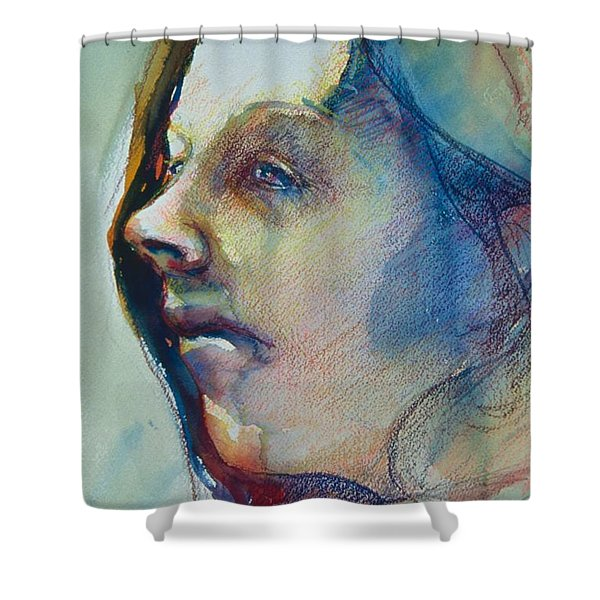 Head Study 7 Shower Curtain
