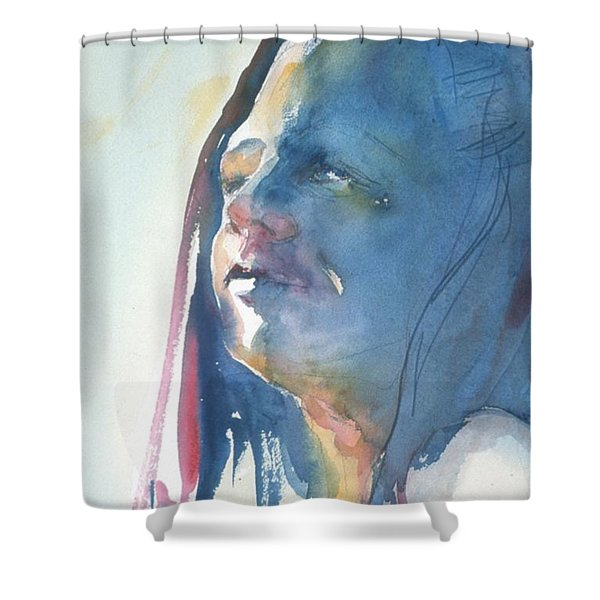Head Study8 Shower Curtain